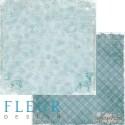 """Лист бумаги для скрапбукинга """"Метель"""", коллекция """"Зимние узоры"""", 30х30, плотность 190 гр"""