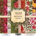 "Набор бумаги 30,5*30,5 ""Botany winter"", 200гр, 10л+бонус"