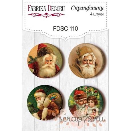 Набор скрапфишек из 4 шт. FDSC 110