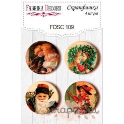 Набор скрапфишек из 4 шт. FDSC 109