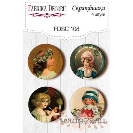 Набор скрапфишек из 4 шт. FDSC 108