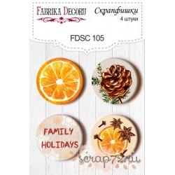 Набор скрапфишек из 4 шт. FDSC 105