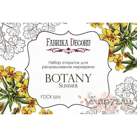 """Набор открыток для раскрашивания маркерами """"Botany summer"""""""