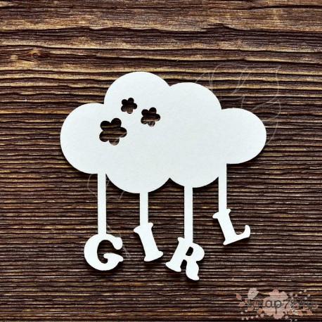 Чипборд GIRL облачко,  6,5*6,5 см,  CB021