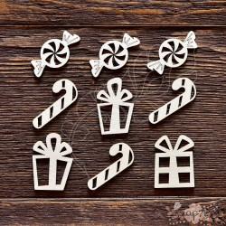 """Чипборд Набор """"Подарки"""",  размер набора 9,5*9,5 см,  CB409"""
