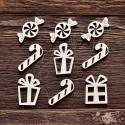 """Чипборд Набор """"Подарки"""",  размер набора 9,5*9,5 см"""