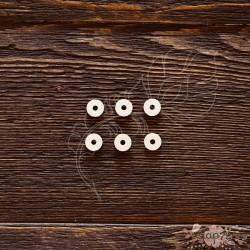 Чипборд Подложки для анкеров круг,  6элементов, ,  размер 1круга 9*2,5мм,  CB486