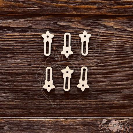 Чипборд Набор анкеров звёздочка 6шт,  2,5*1,2 см,  CB492
