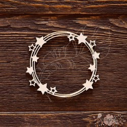 Чипборд Рамка со звёздочками,  8,9*8,1 см,  CB569