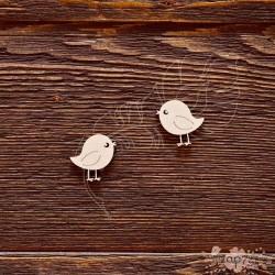 Чипборд Птички ,  2 элем. 2,2*2,1см - 1эл.,  CB584