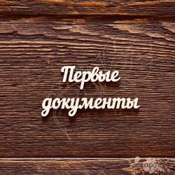 Чипборд Надпись Первые документы №3,  4.3*1.7см, 7.2*1.3см,   CB595