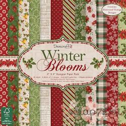 1/4 набора бумаги Dovecraft Winter Blooms, 20*20, 12л, 150гр
