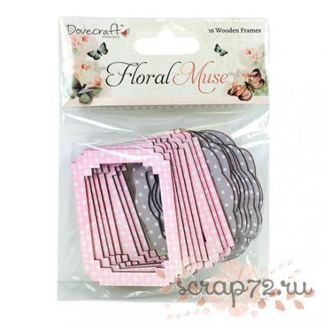 Набор декоративных рамочек Dovecraft Floral Muse, 16шт