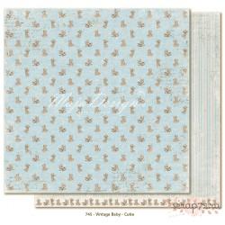 Лист двусторонней бумаги MajaDesign  Vintage Baby - Cutie, 30*30см