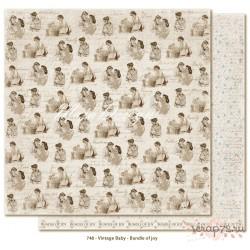 Лист двусторонней бумаги MajaDesign  Vintage Baby - Bundle of joy, 30*30см