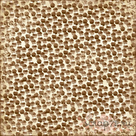 Лист двусторонней бумаги MajaDesign  Fika - Chokladmuffins, 30*30см