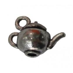 Металлическая подвеска ЧАЕПИТИЕ, серебро, 15*5мм, 1шт