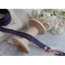 Лента декоративная с принтом, цвет темно-синий, 1.9*90см