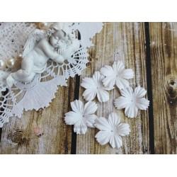 Цветочек плоский, белый, 2.7см, 10шт