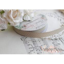 Лента декоративная Dovecraft Floral Muse Half Сеточка ромбиков на сером, 1см, 2м