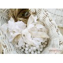 Шебби-лента Белая антикварная, 14мм, 1м