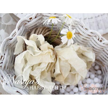 Шебби-лента Чайная роза, 14мм, 1м