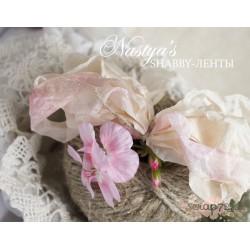 Шебби-лента Жемчужная роза, 1м