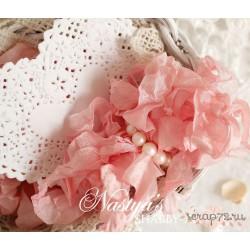 Шебби-лента Розовое облако, 1м