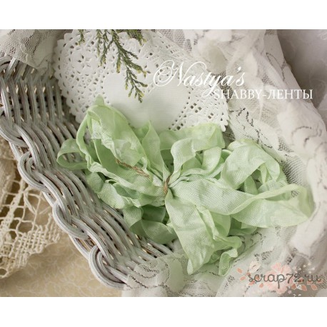 Шебби-лента Зеленая мята, 1м