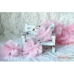 Шифоновые цветочки, цвет светло-розовый, диаметр 5см, 1шт