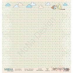 """Лист бумаги для скрапбукинга 30,5х30,5 см 190 гр/м односторон """"Нежный малыш"""" - Мой малыш"""