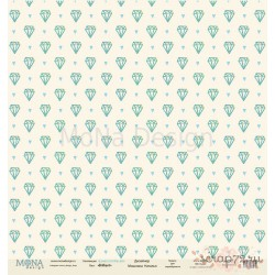 Лист бумаги для скрапбукинга 30,5х30,5 см 190 гр/м односторон Brilliant - Love is in the air
