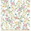 Лист бумаги для скрапбукинга 30,5х30,5 см 190 гр/м односторон Flower strips  - Love is in the air