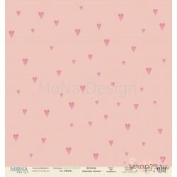 Лист бумаги для скрапбукинга 30,5х30,5 см 190 гр/м односторон Hearts  - Love is in the air