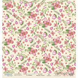 Лист бумаги для скрапбукинга 30,5х30,5 см 190 гр/м односторон Flowers  - Love is in the air