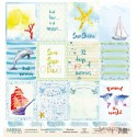 Лист бумаги для скрапбукинга 30,5х30,5 см 190 гр/м односторон Cards2 - Sea party