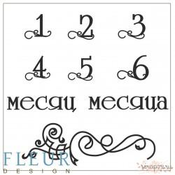 """Набор штампов Первый год 1-6, коллекция """"Наш малыш"""", 10,5х10,5 см"""