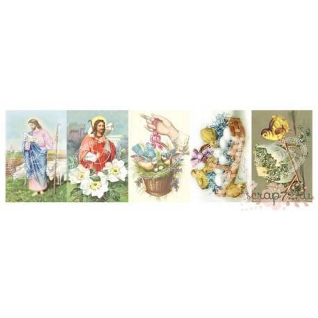 "Карточки ""Wielkanoc 2"", 30.5*10см, 200гр/м"