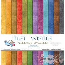 """Набор двусторонней бумаги """"Najlepsze życzenia"""", 30.5*30.5см, 12 листов, 200гр/м"""