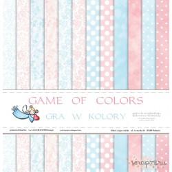 """Набор двусторонней бумаги """"Gra w kolory"""", 30.5*30.5см, 12 листов, 200гр/м"""