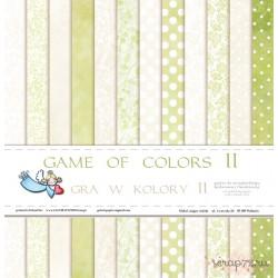 """Набор двусторонней бумаги """"Gra w kolory II"""", 30.5*30.5см, 12 листов, 200гр/м"""