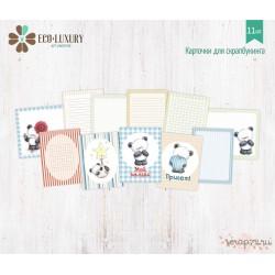 """Набор карточек для скрапбукинга 11шт коллекция """"Мишутка"""""""