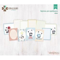 """Набор карточек для скрапбукинга 11шт, 6*8см, коллекция """"Мишутка"""""""