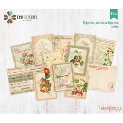 """Набор карточек МИНИ для скрапбукинга 12шт коллекция """"Ботаника"""""""