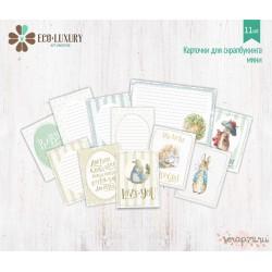 """Набор карточек для скрапбукинга 11шт коллекция """"Кролик Питер и друзья"""" (девочка)"""