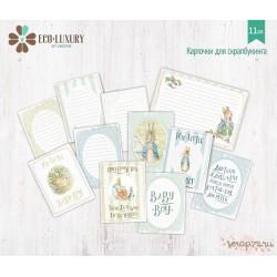 """Набор карточек для скрапбукинга 11шт коллекция """"Кролик Питер и друзья"""" (мальчик)"""