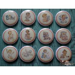 Набор декоративных фишек (диаметр 2,5см, 12шт)
