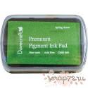Чернильная подушечка Dovecraft, цвет весенний зеленый, 7*4,5см