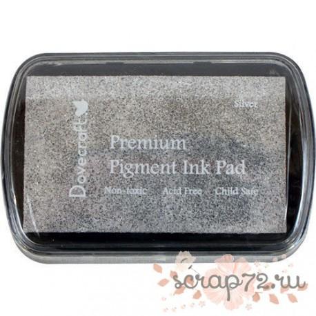 Чернильная подушечка Dovecraft, цвет серебро, 7*4,5см
