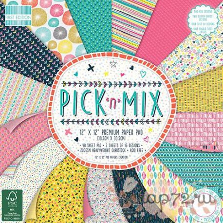 1/3 набора бумаги First Edition Pick n' Mix, 30*30см, 16л, 200гр